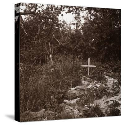 Body of German soldier, Ablain-Saint-Nazaire, Northern France, c1914-c1918-Unknown-Stretched Canvas Print