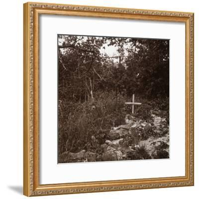 Body of German soldier, Ablain-Saint-Nazaire, Northern France, c1914-c1918-Unknown-Framed Photographic Print