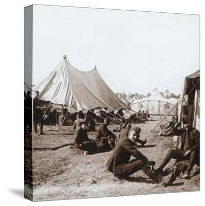 American camp, Melette, France, c1914-c1918-Unknown-Stretched Canvas Print