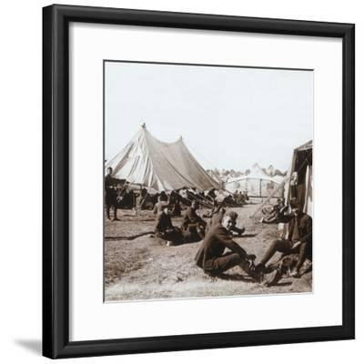 American camp, Melette, France, c1914-c1918-Unknown-Framed Photographic Print