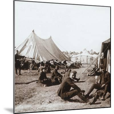 American camp, Melette, France, c1914-c1918-Unknown-Mounted Photographic Print