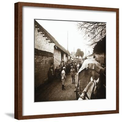 Prisoners at Vimy, northern France, c1914-c1918-Unknown-Framed Photographic Print