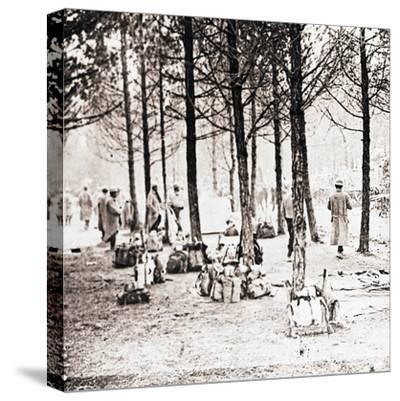 Soldiers and packs in woods, c1914-c1918-Unknown-Stretched Canvas Print