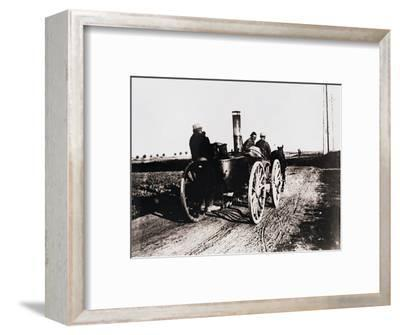 Mobile kitchen going up the line, c1914-c1918-Unknown-Framed Photographic Print