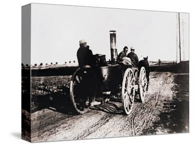 Mobile kitchen going up the line, c1914-c1918-Unknown-Stretched Canvas Print