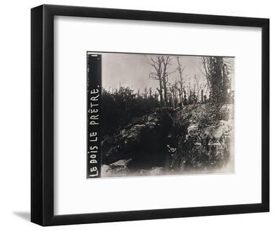 Trenches, Bois-le-Prêtre, Lorraine, northern France, c1914-c1918-Unknown-Framed Photographic Print