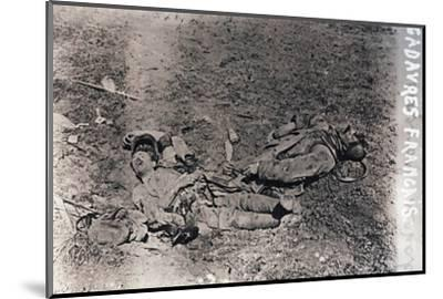 Bodies of dead French soldiers, c1914-c1918-Unknown-Mounted Photographic Print