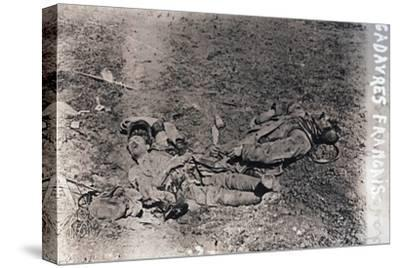 Bodies of dead French soldiers, c1914-c1918-Unknown-Stretched Canvas Print