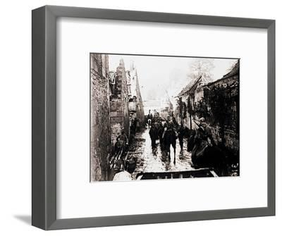 Prisoners of war, Bucy-le-Long, northern France, c1914-c1918-Unknown-Framed Photographic Print