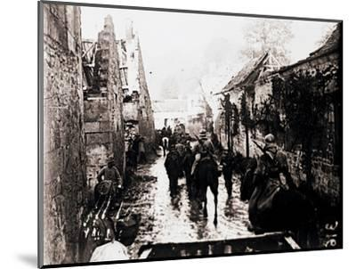 Prisoners of war, Bucy-le-Long, northern France, c1914-c1918-Unknown-Mounted Photographic Print