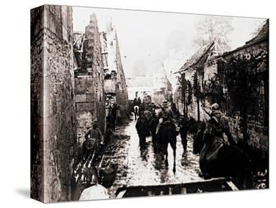 Prisoners of war, Bucy-le-Long, northern France, c1914-c1918-Unknown-Stretched Canvas Print