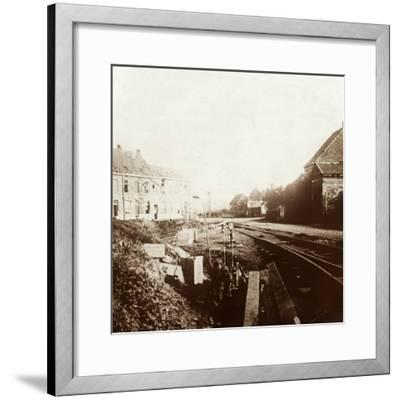 German cannons, Roeselare, Flanders, Belgium, c1914-c1918-Unknown-Framed Photographic Print