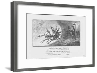 'The Lawyers Last Circuit.', c1800-Unknown-Framed Giclee Print