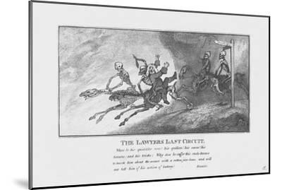 'The Lawyers Last Circuit.', c1800-Unknown-Mounted Giclee Print