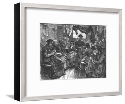 'Low Lodging House, St. Giles's', 1872-Unknown-Framed Giclee Print