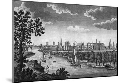 City of York and River Ouse, Yorkshire, c1776-Unknown-Mounted Giclee Print