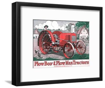 'PlowBoy & PlowMan Tractors', c1916-Unknown-Framed Giclee Print