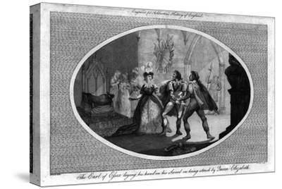'The Earl of Essex laying his hand on his Sword on being struck by Queen Elizabeth.', (1792)-Unknown-Stretched Canvas Print