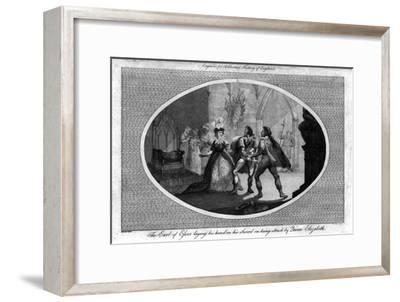 'The Earl of Essex laying his hand on his Sword on being struck by Queen Elizabeth.', (1792)-Unknown-Framed Giclee Print