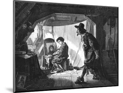'Young Rubens surprised by his master, Van Oort', (1875)-Unknown-Mounted Giclee Print