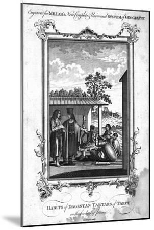 'Habits of Dagestan Tartars of Tarcu, on the borders of Persia', 1780-NC Goodnight-Mounted Giclee Print