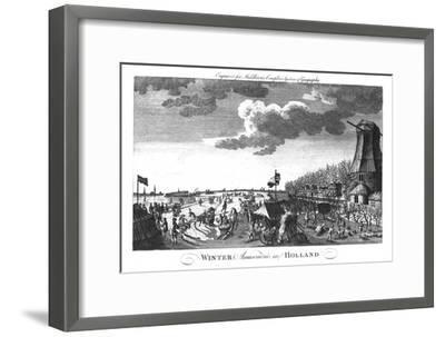 'Winter Amusements in Holland', c1760-Unknown-Framed Giclee Print