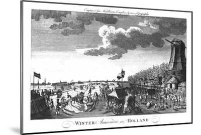 'Winter Amusements in Holland', c1760-Unknown-Mounted Giclee Print