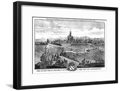 'The South-West Prospect of the City of Canterbury.', c1776-Unknown-Framed Giclee Print