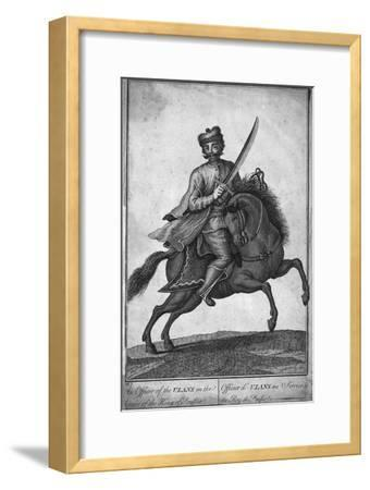 'The Officer of the Ulans in the Service of the King of Prussia', (18th century?)-Unknown-Framed Giclee Print
