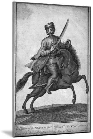 'The Officer of the Ulans in the Service of the King of Prussia', (18th century?)-Unknown-Mounted Giclee Print