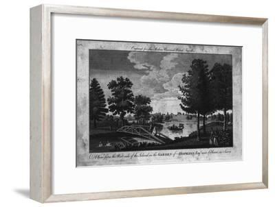 'A View of the Island in the Garden of Hopkins, Esqr. near Cobham in Surry.', c1760-Unknown-Framed Giclee Print