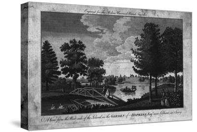 'A View of the Island in the Garden of Hopkins, Esqr. near Cobham in Surry.', c1760-Unknown-Stretched Canvas Print
