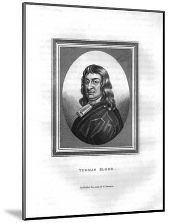 'Thomas Blood', (1817)-Unknown-Mounted Giclee Print