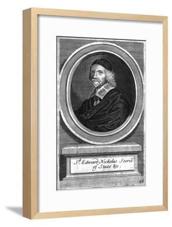 'Sir Edward Nicholas, Secretary of State', mid-late 17th century-Unknown-Framed Giclee Print