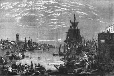 Valetta Harbour, Malta, c1856-Unknown-Framed Giclee Print