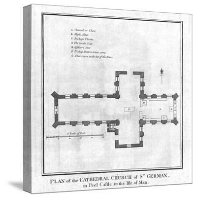 'Plan of the Cathedral Church of St. German', late 18th century-Unknown-Stretched Canvas Print