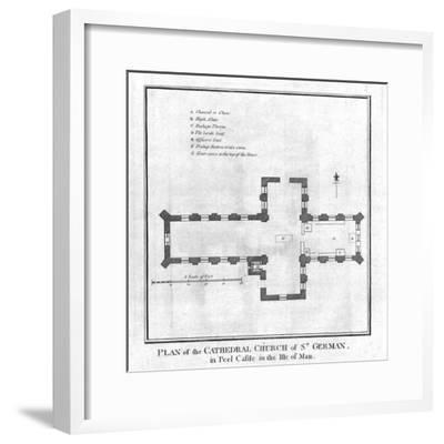 'Plan of the Cathedral Church of St. German', late 18th century-Unknown-Framed Giclee Print