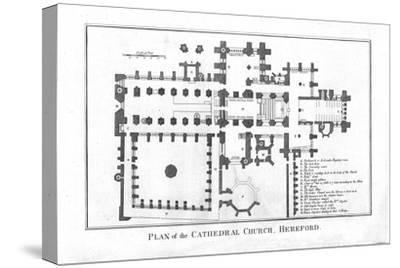 'Plan of the Cathedral Church, Hereford.', late 18th century-Unknown-Stretched Canvas Print