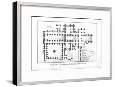 'Plan of the Cathedral Church, Hereford.', late 18th century-Unknown-Framed Giclee Print