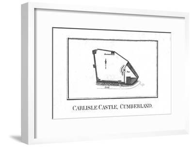 Plan of Carlisle Castle, Cumberland, late 18th century-Unknown-Framed Giclee Print