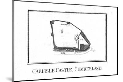 Plan of Carlisle Castle, Cumberland, late 18th century-Unknown-Mounted Giclee Print