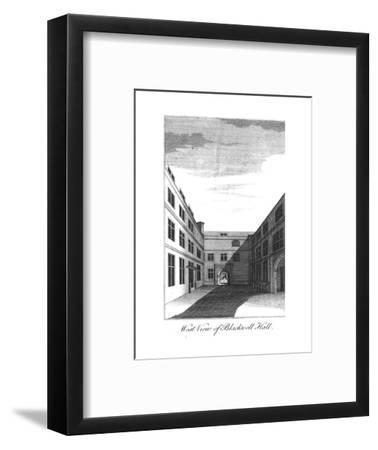'West View of Blackwell Hall.', c1750-1800-Unknown-Framed Giclee Print