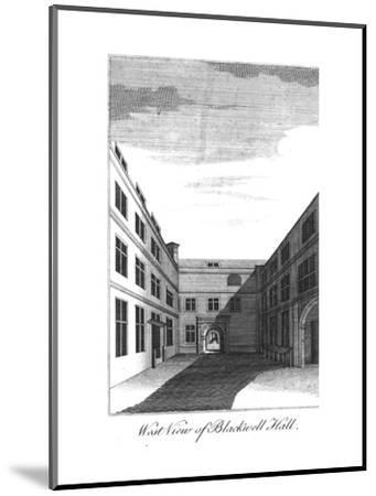 'West View of Blackwell Hall.', c1750-1800-Unknown-Mounted Giclee Print