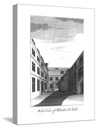 'West View of Blackwell Hall.', c1750-1800-Unknown-Stretched Canvas Print