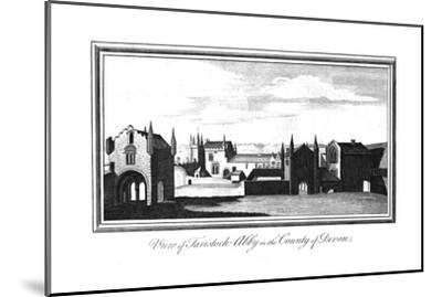 'View of Tavistock-Abby in the County of Devon', late 18th-early 19th century-Unknown-Mounted Giclee Print