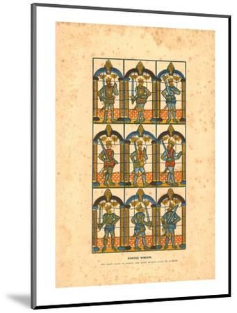 'Painted Window.Two Saxon Earls of Mercia, and Seven Norman Earls of Chester', c1845-Unknown-Mounted Giclee Print