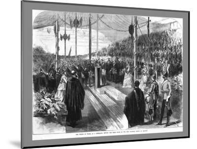 'The Prince of Wales Setting the Chief Stone at the New Grammar School at Reading.', 1870-Unknown-Mounted Giclee Print