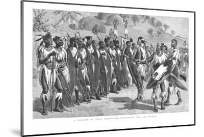 'A Muster of Zulu Warriors - Preparing for an Attack.', 1879-Unknown-Mounted Giclee Print