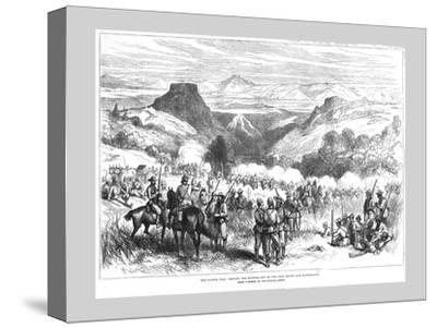 'The Kaffir War - Driving the Kaffirs out of the Iron Mount and Waterkloof', 1878-Unknown-Stretched Canvas Print