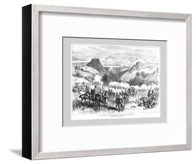 'The Kaffir War - Driving the Kaffirs out of the Iron Mount and Waterkloof', 1878-Unknown-Framed Giclee Print